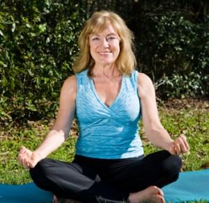 Mature Woman Yoga - Lotus