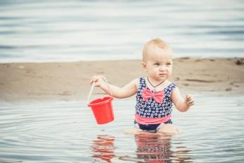 baby at beach