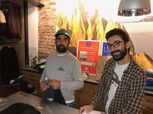 Stefano e Matteo, i protagonisti della sostenibilità ambientale in Patagonia Milano Store