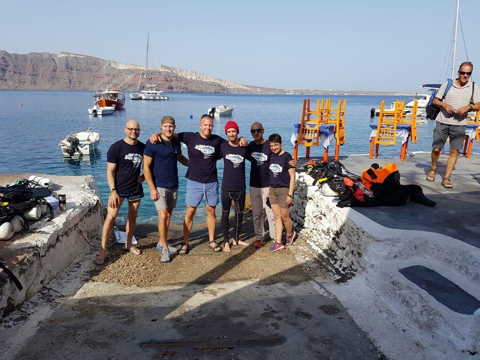 I volontari di Healthy SEas Ghost Fishing pronti per immergersi