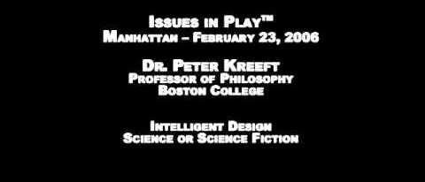 Dr Peter Kreeft: Intelligent Design