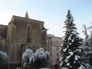 The Avellanes monastery in the Montsec range
