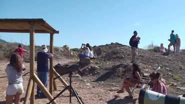 Watching raptor migration at Tarifa