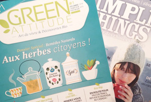 "Mes magazines verts: ""Green Attitude"" et ""Simple Things"""