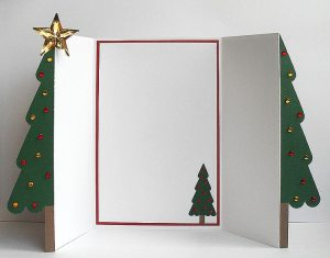 christmas tree d z card open