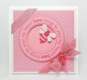 my heart bee-longs to you card