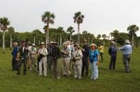 In the Savannah Soplillar of Zapata Swamp, seeking Bare-legged and Pygmy Owls. (Photo by Erika Gates)