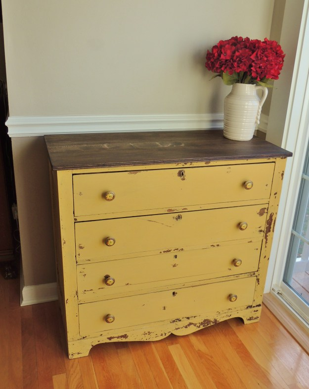 Milk Paint Dresser | Mustard Seed Yellow