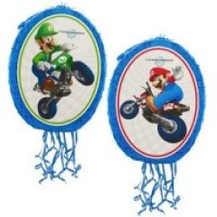 Mario Kart Wii Mario and Luigi 18 Pull-String Pinata