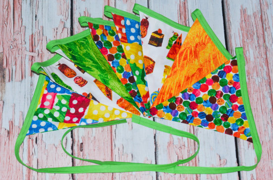 Very Hungry Caterpillar bunting - banner