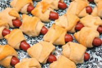 little sausages baked in bread