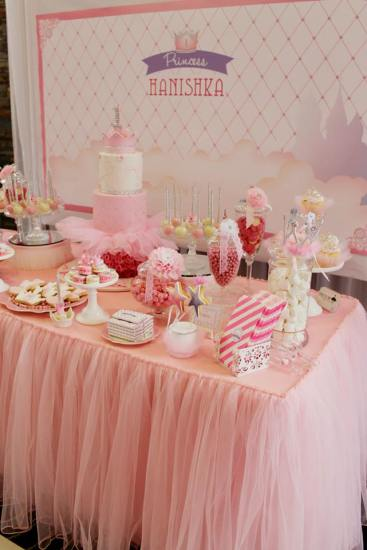 Bling princess first birthday party ideas