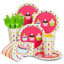 Cupcake Birthday Party Ideas tableware