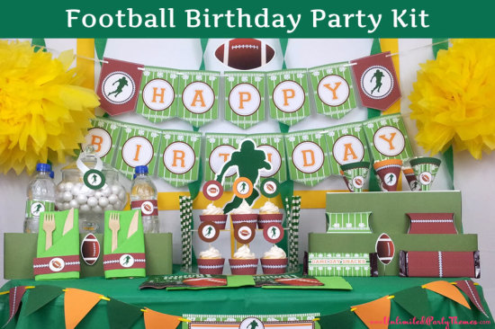 PRINTED Football Party Decorations - Football Birthday Party