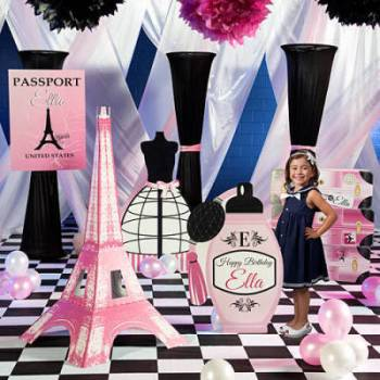 Pink Paris Party Supplies