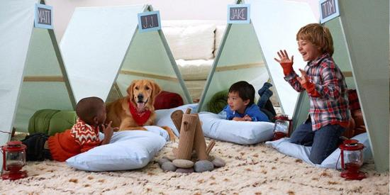 camping birthday party ideas tent