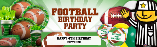 football birthday party decorations and supplies