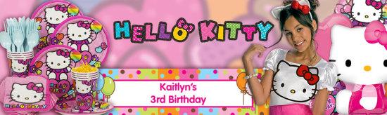 neon hello kitty party