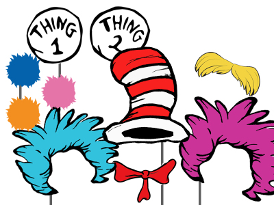 photobooth props dr seuss thing 1 thing 2 twins