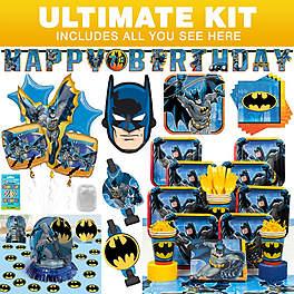 BB102111 BBKIT794 Superhero Batman Birthday Party Ideas Kit