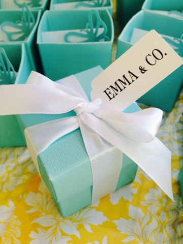 tiffany blue party boxes favors