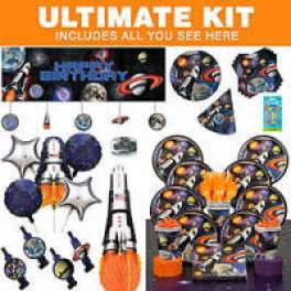 space party tableware and kit