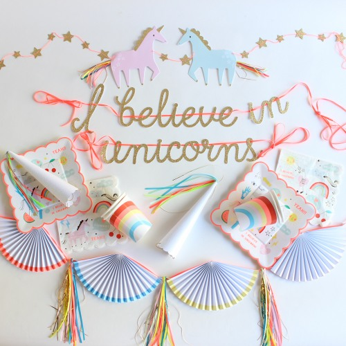 unicorn rainbow party banners