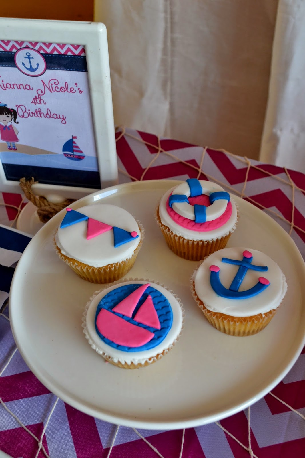 Pink Amp Blue Nautical Girl Party Birthday Party Ideas