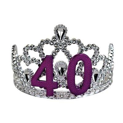 40th Birthday Silver Tiara