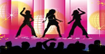 Disco Dancers Backdrop