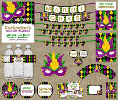 Mardi Gras Masquerade Party Package - Decorations