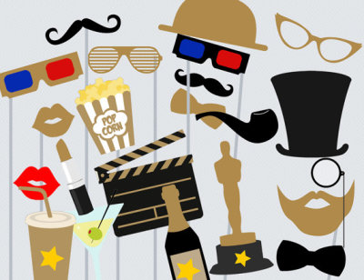 Movie Photo booth Props, Hollywood Star Photo booth Party Props, Birthday Party Props, Theatre Party PhotoBooth Props