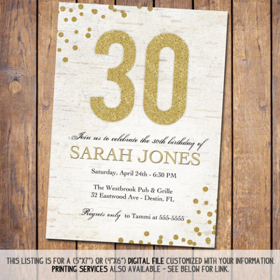 Rustic Birthday Invitation