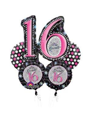 Sweet 16 Sparkle Birthday Bouquet