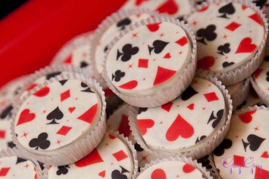 adult-40th-las-vegas-casino-birthday-party-ideas-decorations-poker-treats-aces-clubs-diamond-spade-pattern-treats