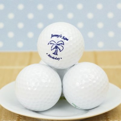 adult 50th Personalized Birthday Golf Ball