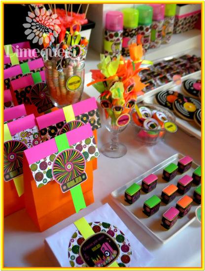fiesta-disco-birthday-party-ideas-neon-color-themed-snacks