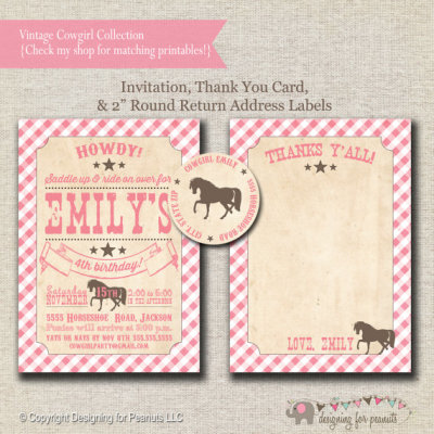 Pony Party Invitation