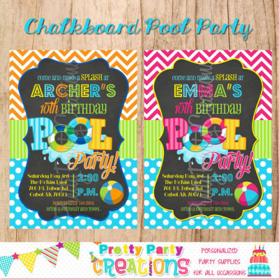 Pool Party Invitation - Summer Party - Water Party Invite