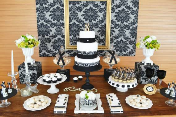 Gold Amp Black Damask 70th Birthday Party Birthday Party