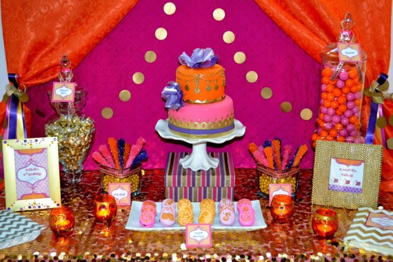 gold-moroccan-teen-birthday-party-ideas-dessert-table