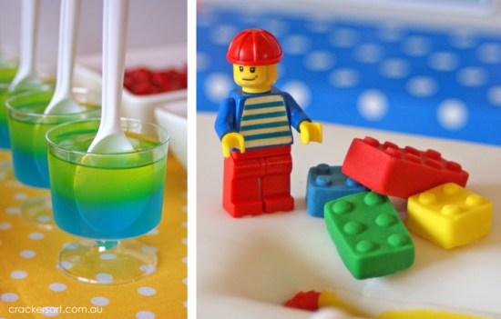 Crackers LEGO Birthday Party snacks