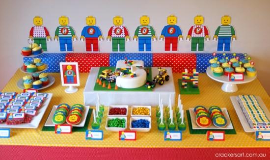 Crackers LEGO Birthday Party ideas
