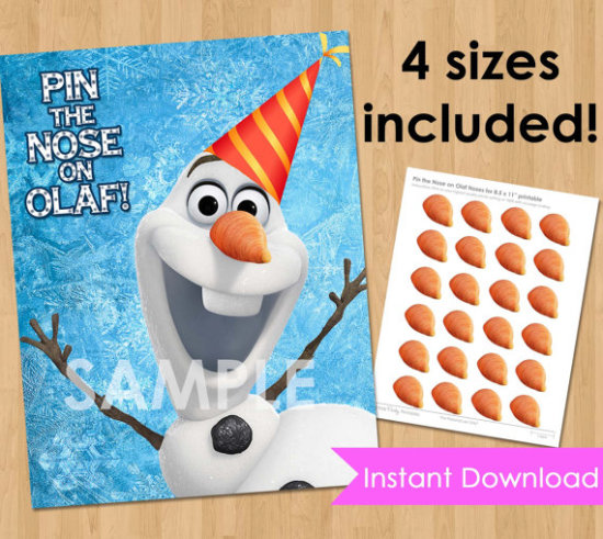 Pin the Nose on Olaf Frozen Game