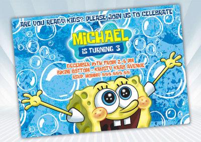 SpongeBob Invitation