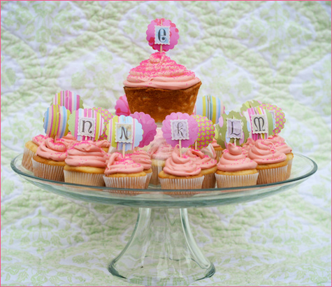 Vintage Inspired Tea Party cupcakes