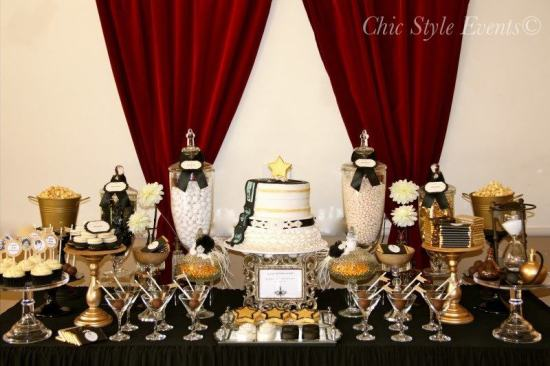 40th Hollywood Glam Party Ideas