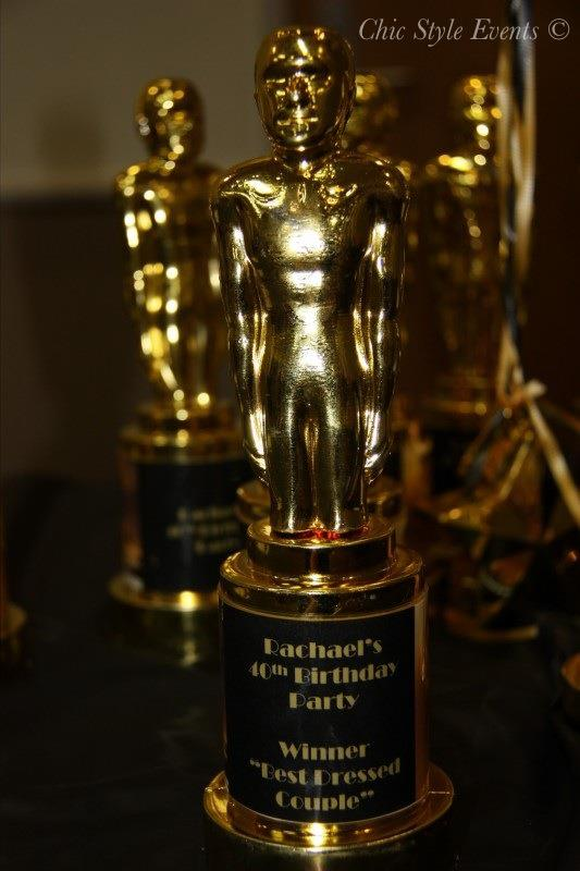 40th Hollywood Glam Party, grammy trophy personalized
