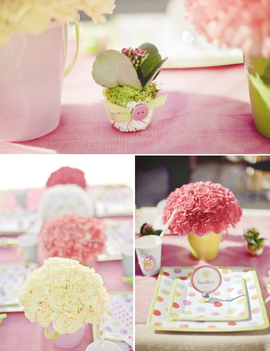 Confetti Hula Hoop Birthday Party table setting