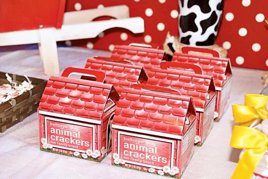 Farm Barnyard Party animal crackers